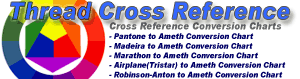 Thread Cross Reference Conversion Charts