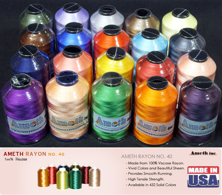 Huge spool m rayon machine embroidery thread lot